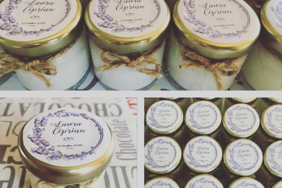 Bougies Parfumées Cadeaux pour invités: Mariage de Laura et Ciprian