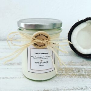 COCONUT – Natural Scented Candle in Glass Jar – 170g