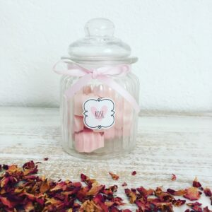 ROSE – Candy Jar of 15 Scented Wax Melts