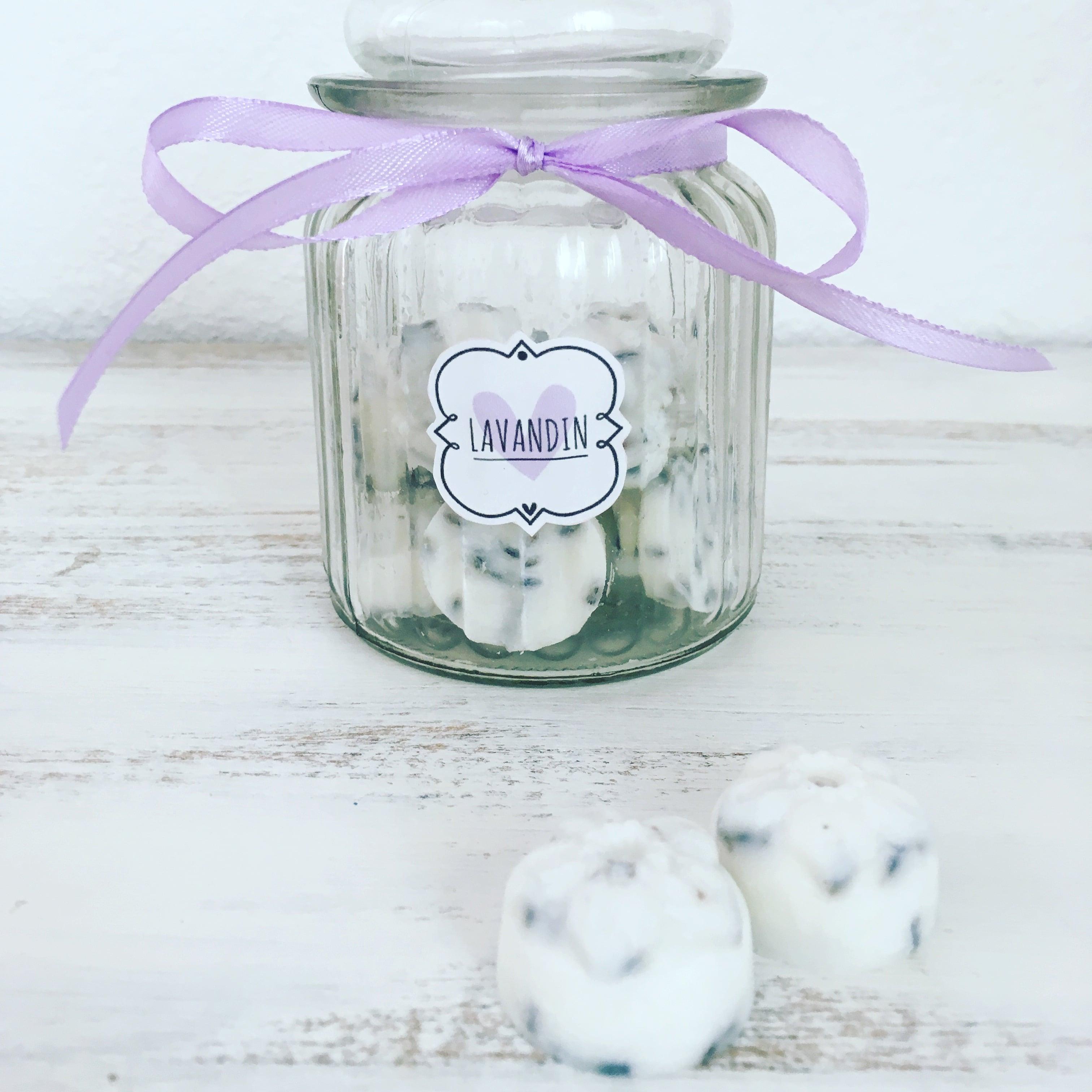 LAVANDIN- Jar of 15 Lavandin of Provence Scented Natural Wax Melts ...