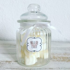COCONUT – Candy Jar of 15 Scented Wax Melts