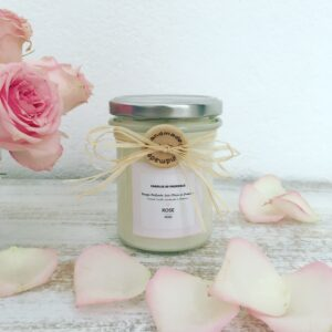 ROSE – Natural Scented Candle in Glass Jar – 170g