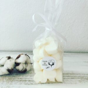 COTTON FLOWER – Bag of 24 Scented Heart-Shaped Wax Melts