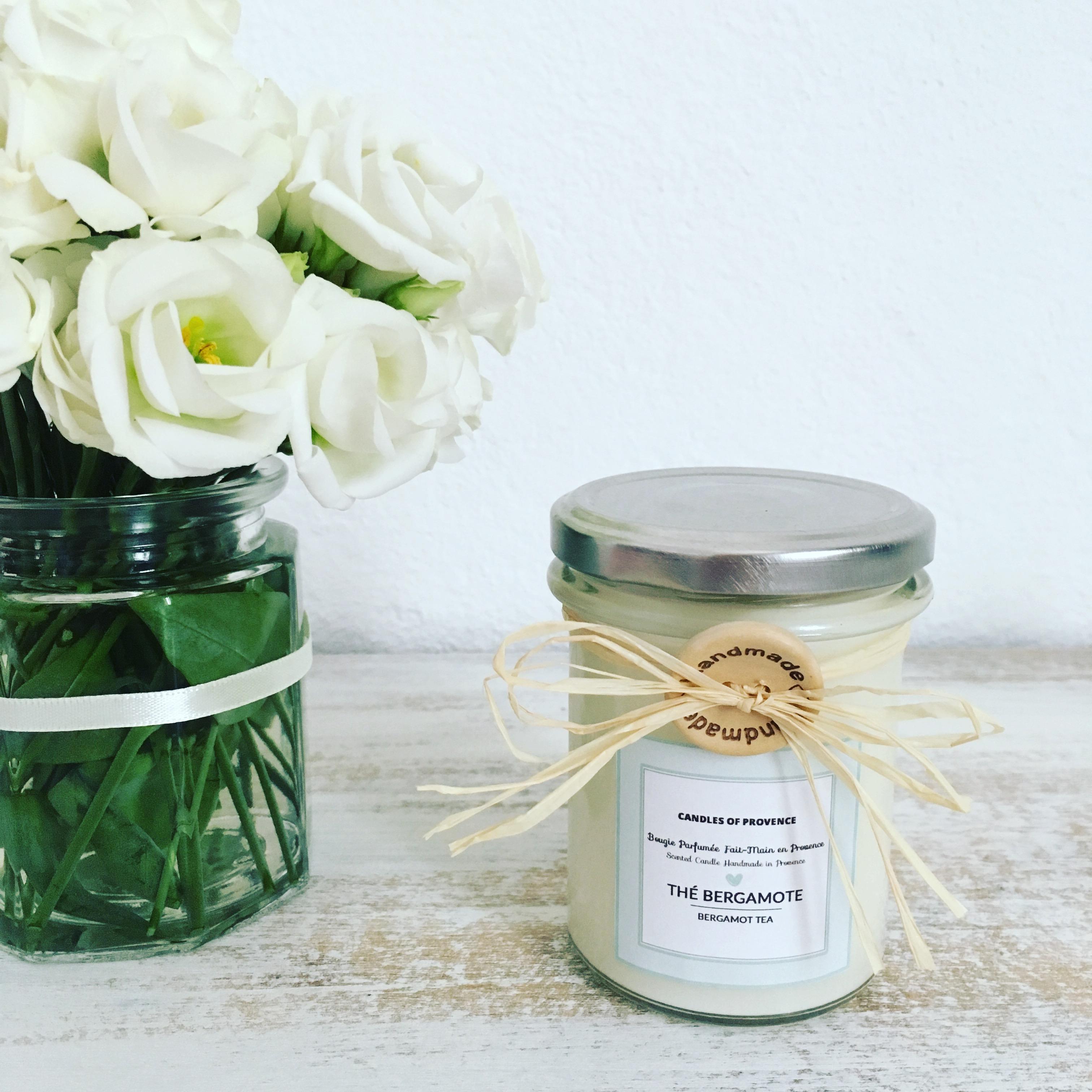 Bergamot Tea Natural Scented Candle In Gl Jar 170g Bougies Parfumées De Provence Fondants En Cire Pour Brûle Parfum