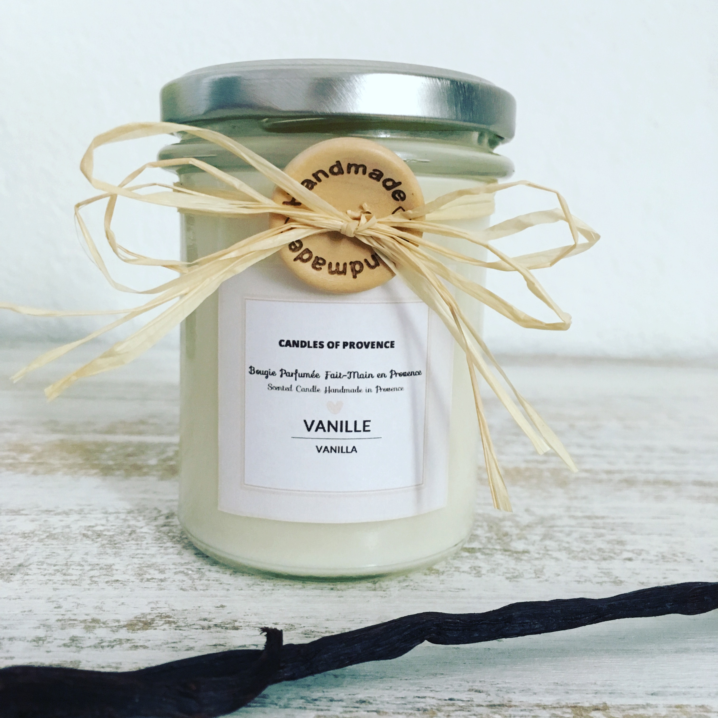 VANILLA - Natural Scented Candle in Glass Jar - 170g - Bougies ...
