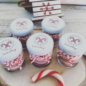 x5 Mini Bougies Parfumées SUCRE D'ORGE de Noël